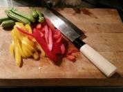 peperoni e baby zucchine