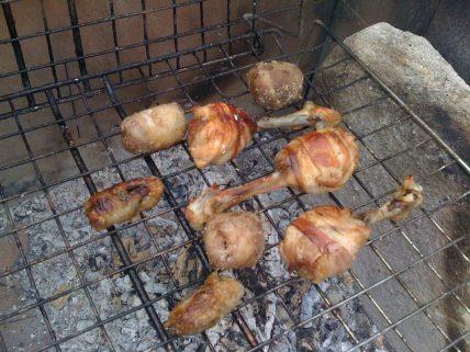 Pollame sulla griglia